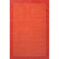 Acura Rugs Loom Orange / Dark Orange Contemporary Rug - Terra Border - Contemporary Rugs - Area Rugs by Style - Area Rugs