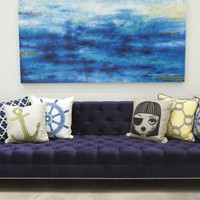 www.roomservicestore.com - Nautical Navy Sinatra Sofa