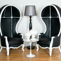 www.roomservicestore.com - Black &amp; White Balloon Chair