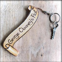 Handcrafted Personalised Wooden Key.. on Luulla
