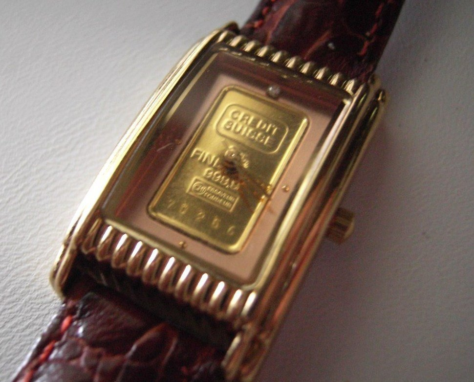 gold credit suisse 999 9 gold bar from bonanza