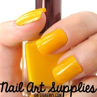 Egg Yolk - Orange Yellow Nail Polish Lacquer 16ml from nailartsupplies