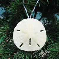 Glitter Sand Dollar Ornaments | OceanStyles.com