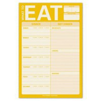 What To Eat Pad ? Fridge Notepad for Meal Planning by Knock Knock