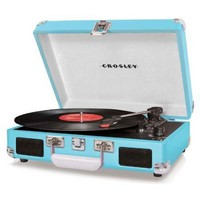 Crosley Cruiser Turntable CR8005A-OR - It&#x27;s Portable! -  Turquoise Vinyl - Whimsical &amp; Unique Gift Ideas for the Coolest Gift Givers