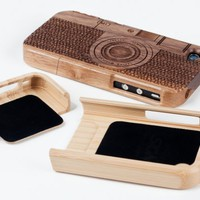 Wood Camera iPhone 4 Case