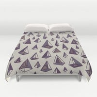 Triangles Are My Favorite Shape Duvet Cover by Hector Mansilla