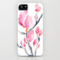 iPhone 5 Magnolia Case - Brazen Sumi e Zen Art Cell Phone Cover