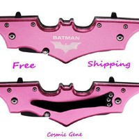 Pink Batman Dual Blade Knife