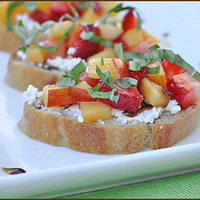 Strawberry and Nectarine Bruschetta ? very culinary