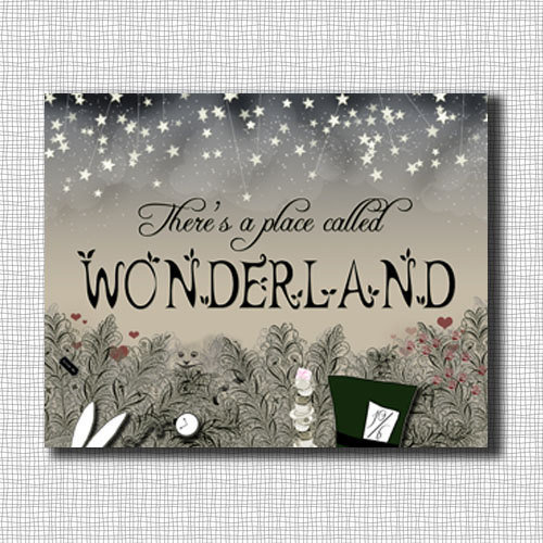 There's a place called Wonderland 8x10 Print by tuckerreece