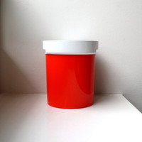 Mod Orange Ice Bucket 70's Thermo-Serv USA