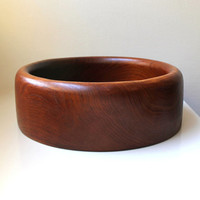 Danish Modern Teak Serving Bowl Large 60's