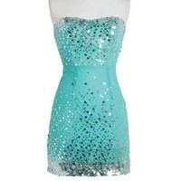 Circle Sequins Mesh Dress
