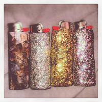 Personalized, Glitter, Sparkle, or Cat Lighter