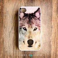 Halloween iPhone 4 Case Unique iPhone Case Autumn Color iPhone 4 Cases iPhone 4 Cover Cell Phone Case Wolf iPhone Case Accessories Cell Phon
