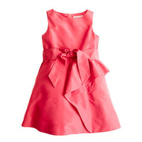 Girls&#x27; silk taffeta Tilly dress