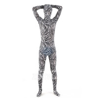 Halloween Full Body Fancy Dress Lycra Spandex Zentai Suits Zebra-stripe Cosplay Costumes [L20120824] - 24.58 : Zentai, Sexy Lingerie, Zentai Suit, Chemise
