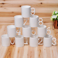 Number Mugs Set