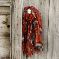 Apple Harvest Scarf in Rust, Sweet Affordable Accessories