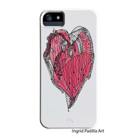 Romantic Heart, iPhone 6 Case, iPhone 5 case, Funky, Abstract, Art, iPhone cases, by Ingrid Padilla, iPhone 5S case, iPhone 6 case