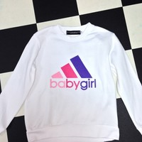 SWEET LORD O'MIGHTY! OG BABYGIRL SWEATER IN WHITE