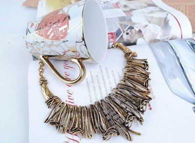 Antique Vintage Punk Style Exaggerated Alloy Bib Necklace new arrival 1PCS