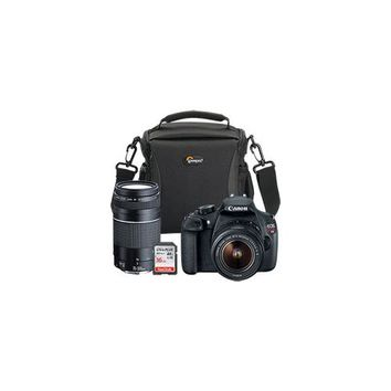 Canon EOS Rebel T5 DSLR Camera with 18-55mm Lens, Extra 75-300mm Lens, Bag & 16GB Memory Card