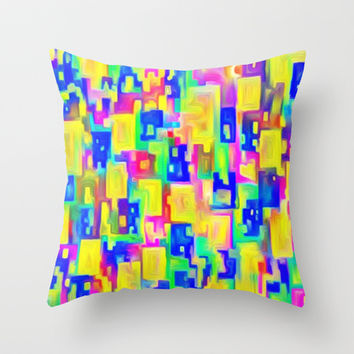 DREAM COLORS Throw Pillow by Robleedesigns