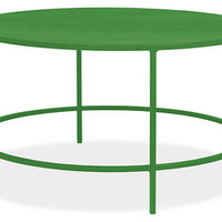 Slim Round Cocktail Table in Colors