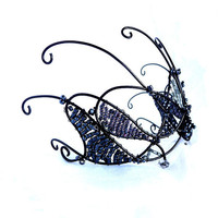 Black wire tiara