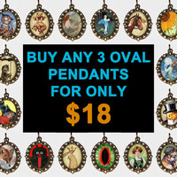 Buy 3 Oval Necklaces For Only 18 Dollars