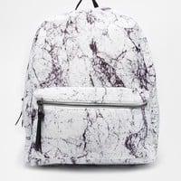 New Look | New Look Backpack in Marble Print at ASOS