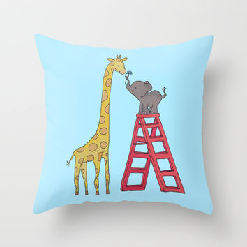 Uneven height love Throw Pillow by Cslagos