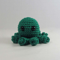 Green Amigurumi Octopus by anamorphicecho on Etsy