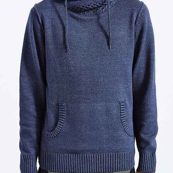 Commerce Cross-Neck Pullover Hooded Sweater - Navy