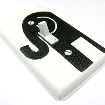 Light Switch Cover White and Black Elephant Nursery Decor Modern Home Decor Switchplate Lightswitch Switch Plate 926