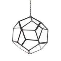 Dodecahedron Hanging Terrarium - One Size / Glass