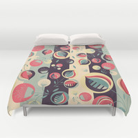 50's floral pattern II Duvet Cover by VessDSign