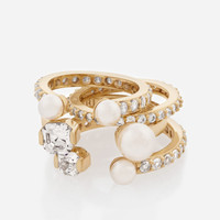 Luxe Midi Pearl Ring Set