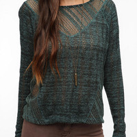 Sparkle & Fade Crocheted Sweater Knit Top
