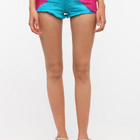BDG High-Rise Cheeky Short - Multi Tie Dye