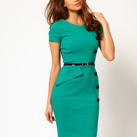 Hybrid Dress With Button And Belt Details at asos.com