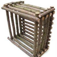 Rustic Willow Basket - Handmade Artisan Craft Sustainable Sourced Wood