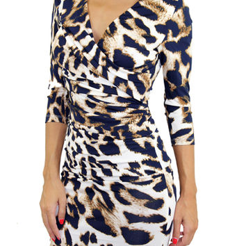 Fitted Animal Print Dress