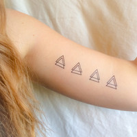 4 pack of Double Triangle Temporary Tattoos