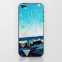 Let's Sail Away iPhone & iPod Skin by Leah Flores | Society6