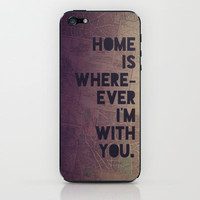 With You iPhone & iPod Skin by Leah Flores | Society6