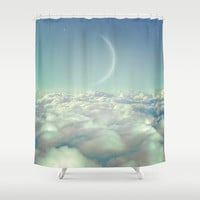Dream Above The Clouds (Crescent Moon) Shower Curtain by Soaring Anchor Designs