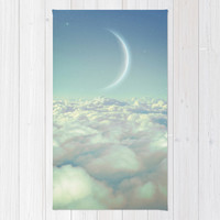 Dream Above The Clouds (Crescent Moon) Rug by Soaring Anchor Designs